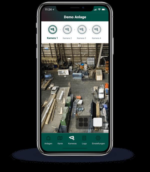 Einzelne Kameras mit Live-Bild in der App