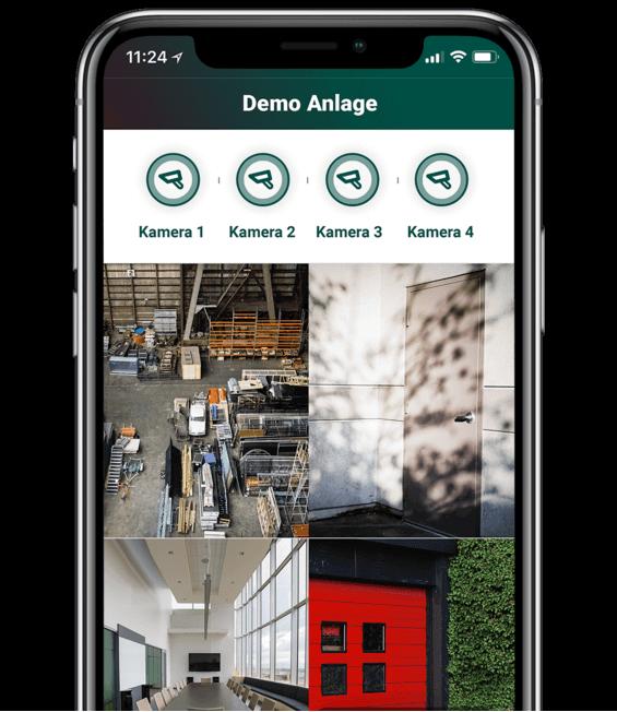 Ansicht verschiedener Kameras in der App