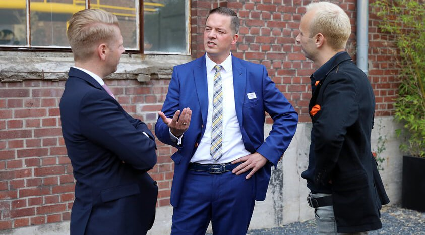 Gregor Golland im Gespräch mit Christoph Lay und Malte Tasto von 180° Sicherheit